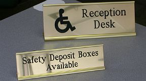 sold brass signs engraved desk signs