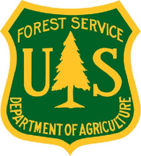 U30430 - US Forest Service Emblem Carved Wood Wall Plaque