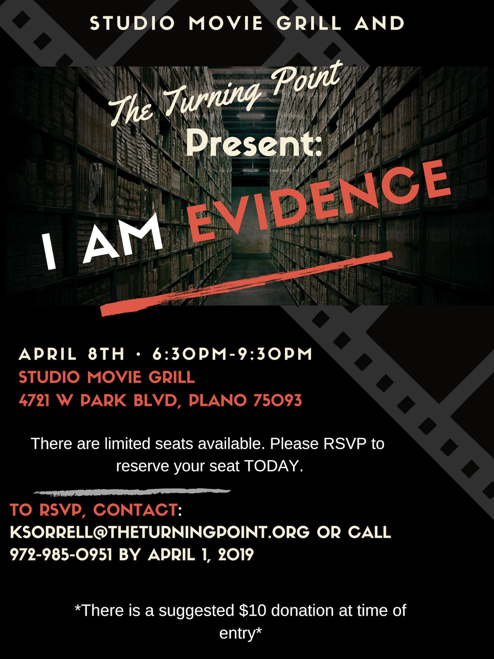 I AM Evidence film screening