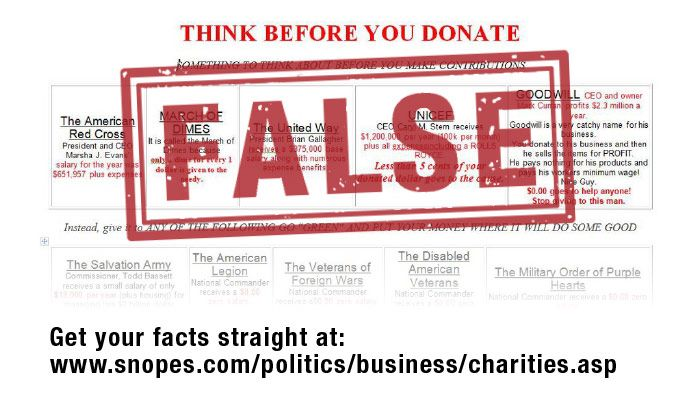 Think Before You Donate_The Truth About False Internet Rumors