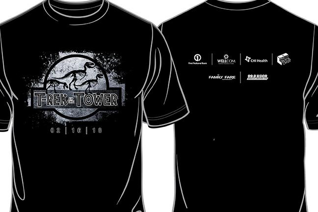 2019 Trek Up the Tower Volunteer Shirt