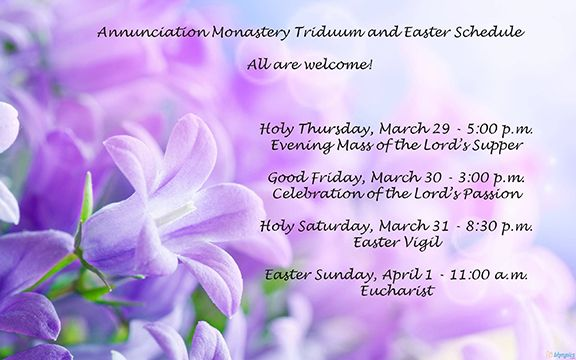 Triduum and Easter Services - All are welcome!