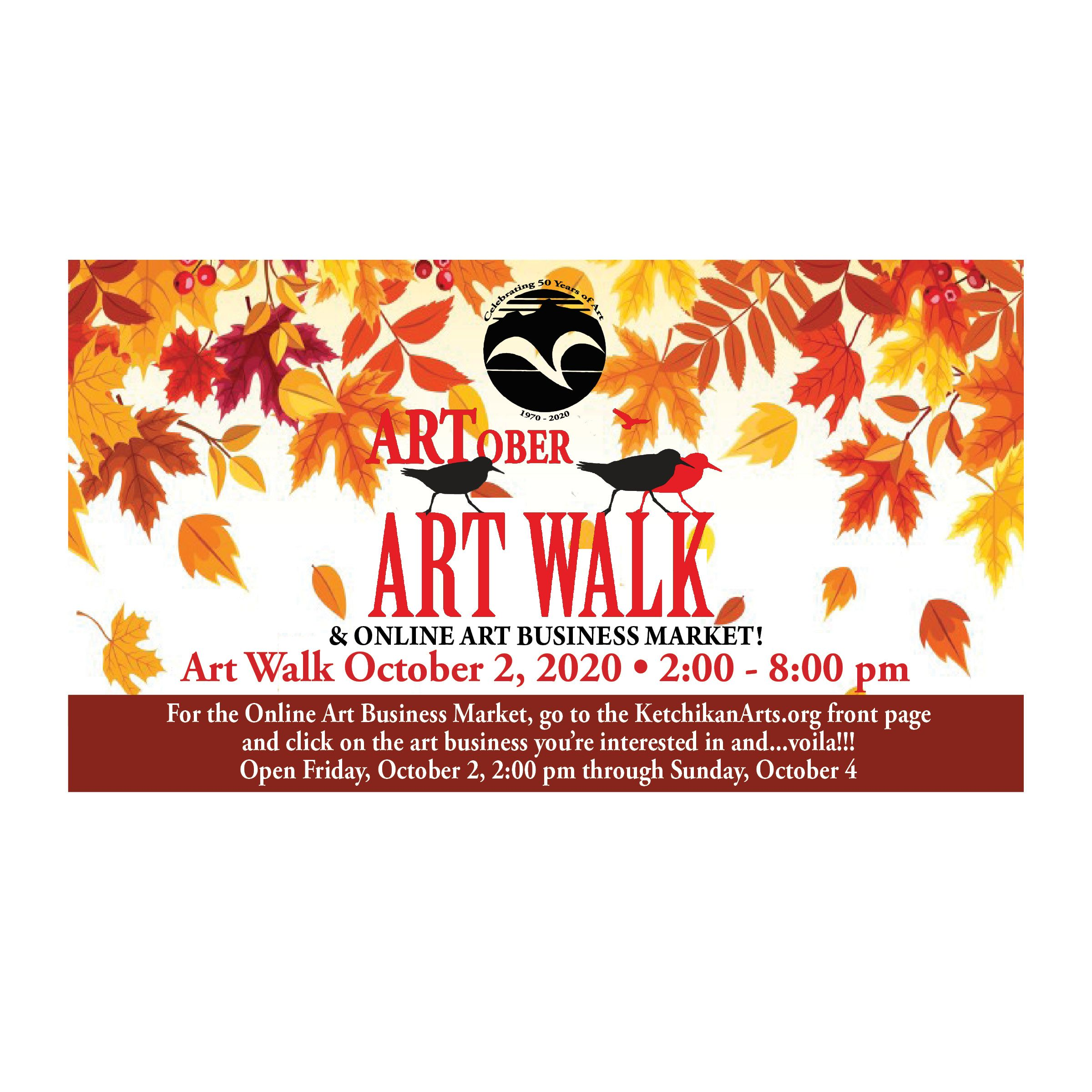 ARTober Art Walk and Online Art Business Market!