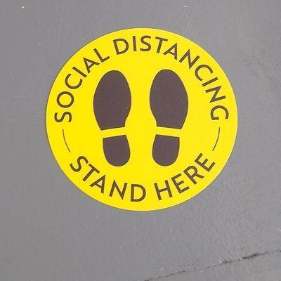 Social Distancing Floor Dots