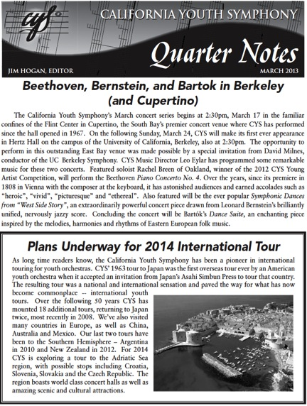 March 2013 Quarter Notes