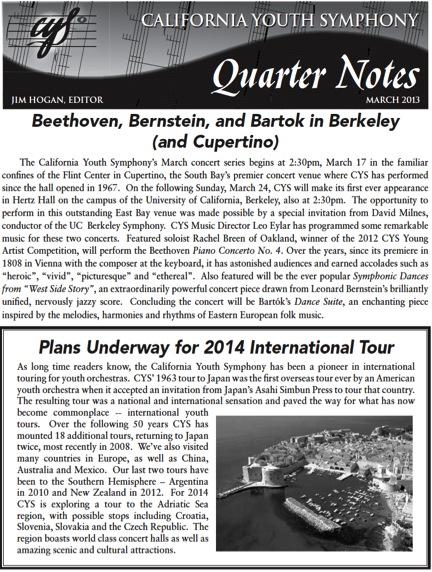 March 2013 Quarter Notes