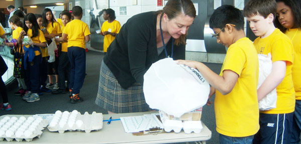 Over 530 Students Attend Newton's Egg Drop at the Cradle of Aviation Museum