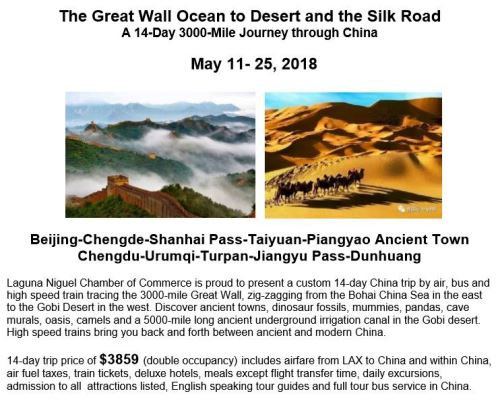 May 2018 14-Day Ocean to Desert & Silk Road China Trip Itinerary