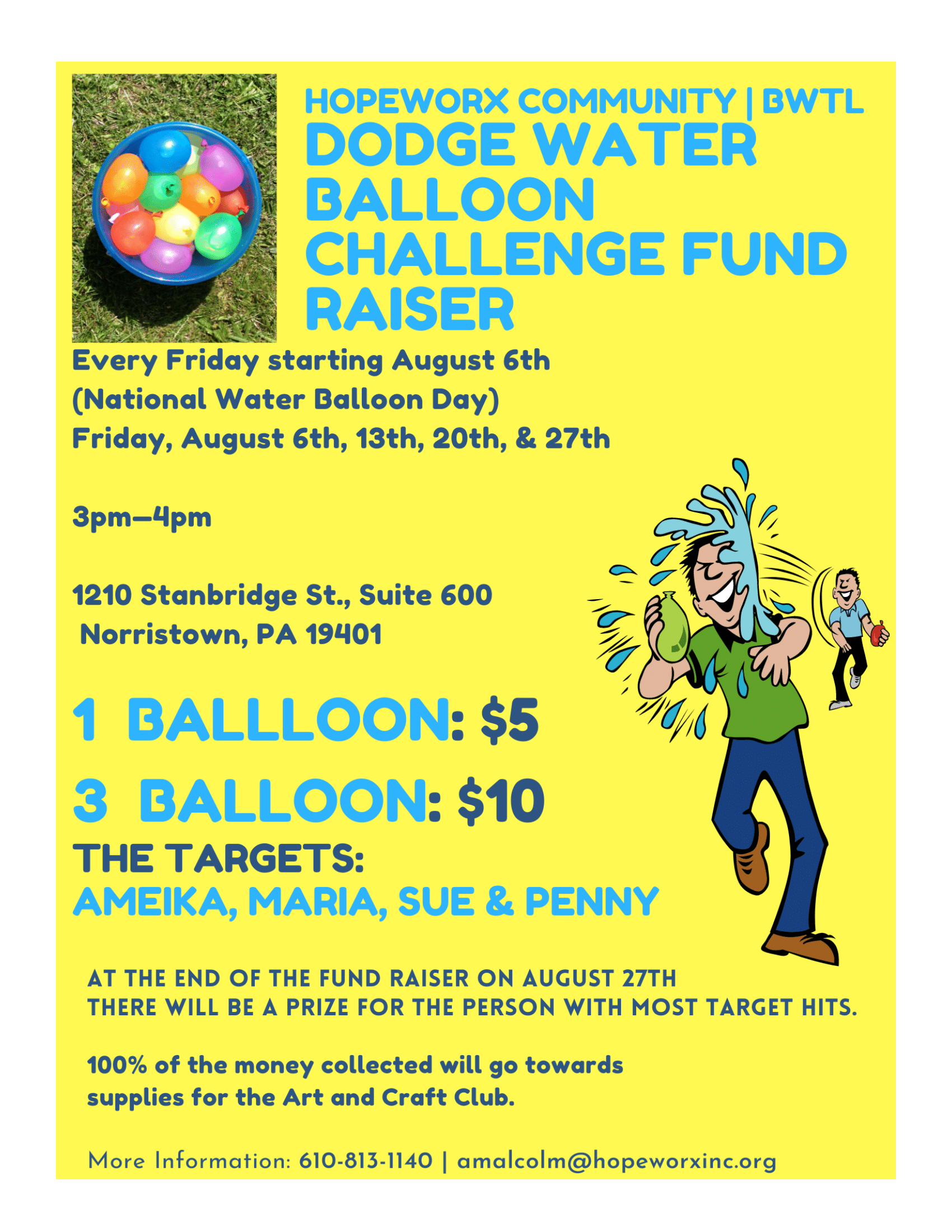 DODGE WATER BALLOON CHALLENGE – Let's put some fun in fundraisers!