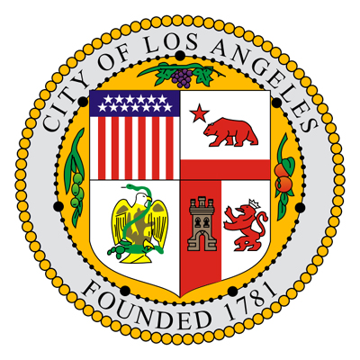 X33090 - Carved Wooden Wall Plaque of the Seal of the City of Los Angeles