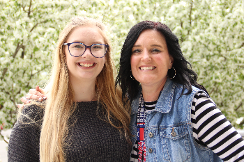 Mary, a high school student, and Ashlee, her mentor