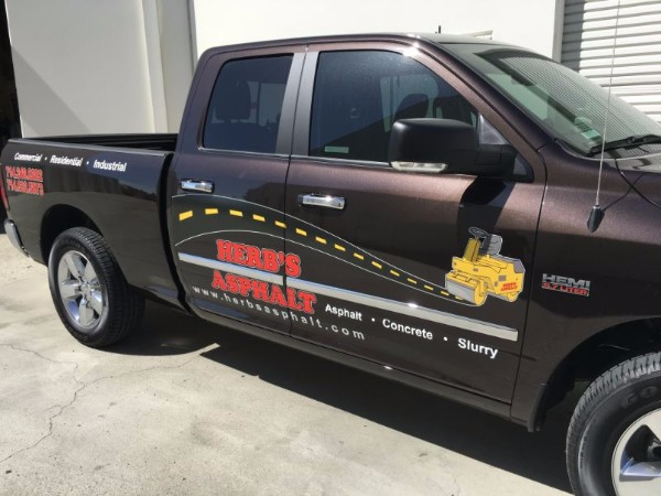Vinyl Truck Decals Advertise Herbs Asphalt Business Anaheim - Truck decal graphics