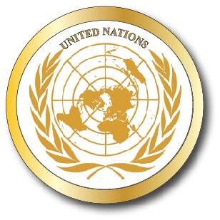 V31993 - Carved   Wall Plaque with the Seal of the United Nations, Gold Version