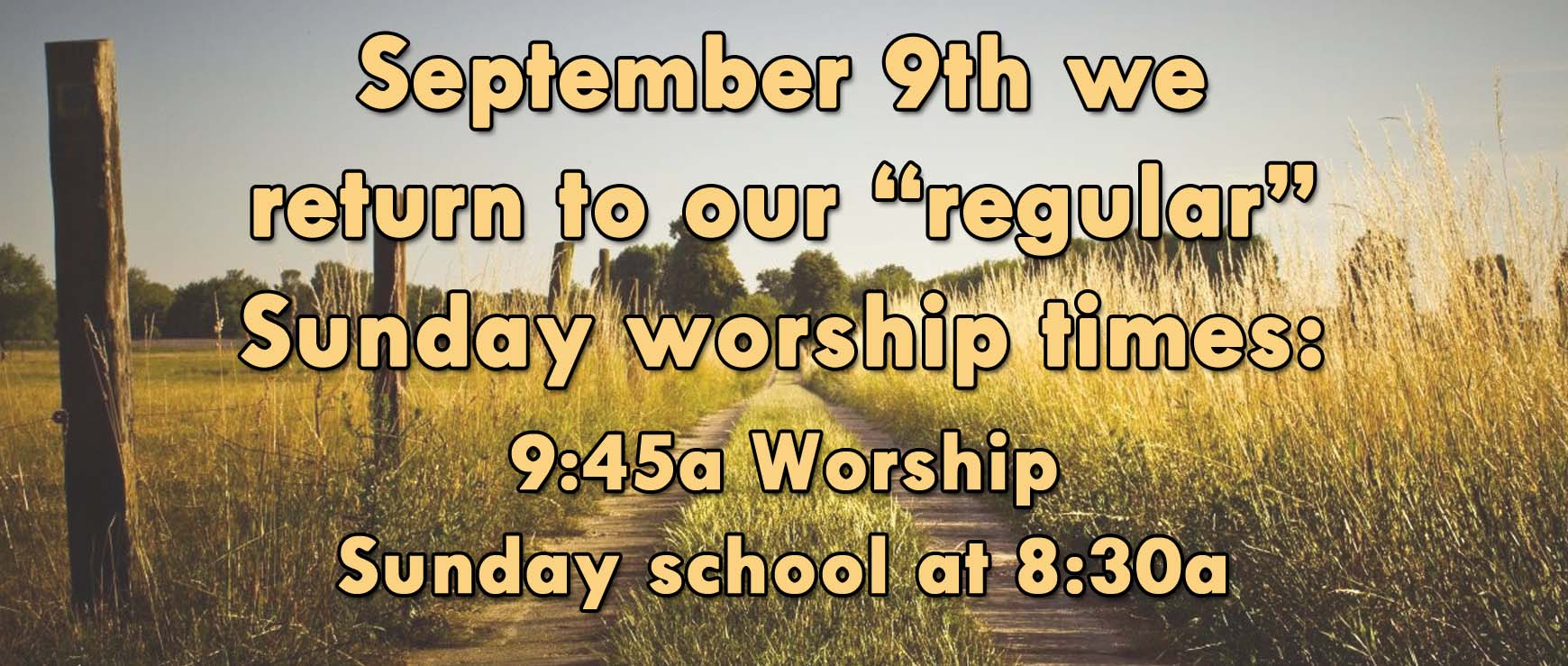 regular worship times 2018