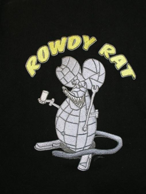 Rowdy Rat Emboridery