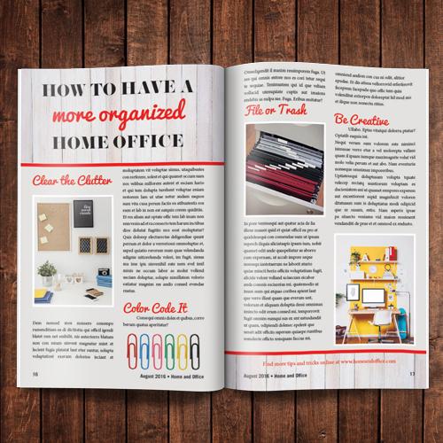 Magazine - Saddle Stitch