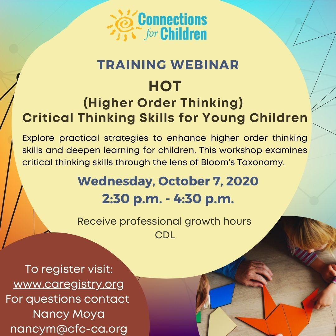 HOT (Higher Order Thinking) Critical Thinking Skills for young children.