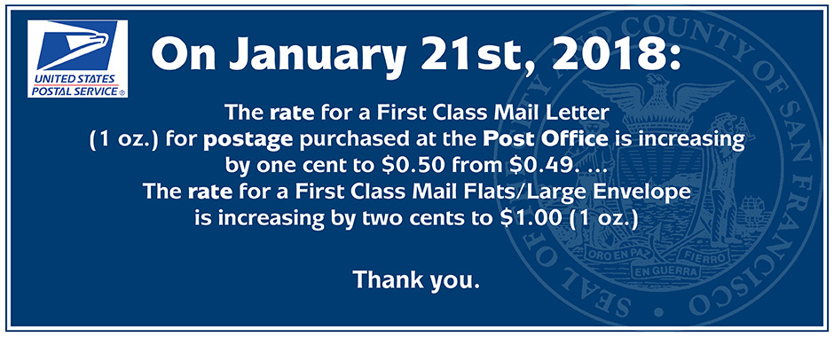 2018 Mail Increase