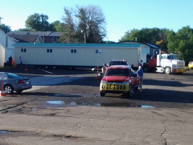 Moving the mobile chapel to Pilger, NE