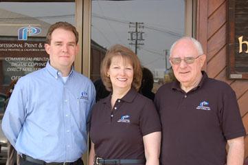 Doug, Roberta and son, Mike Carlile