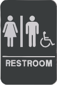 Restroom Sign w/Chair - Unisex