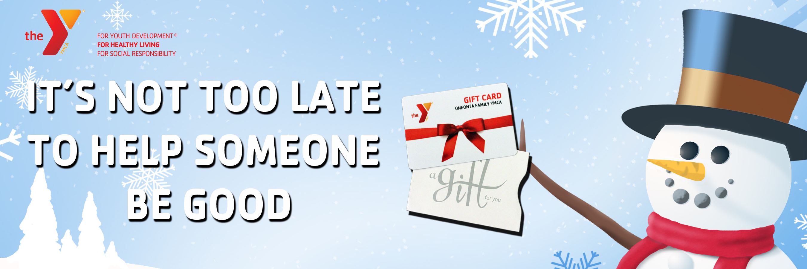 Holiday Gift Card-Frosty Banner