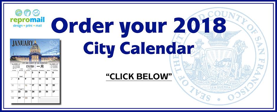 Order 2018 Calendar