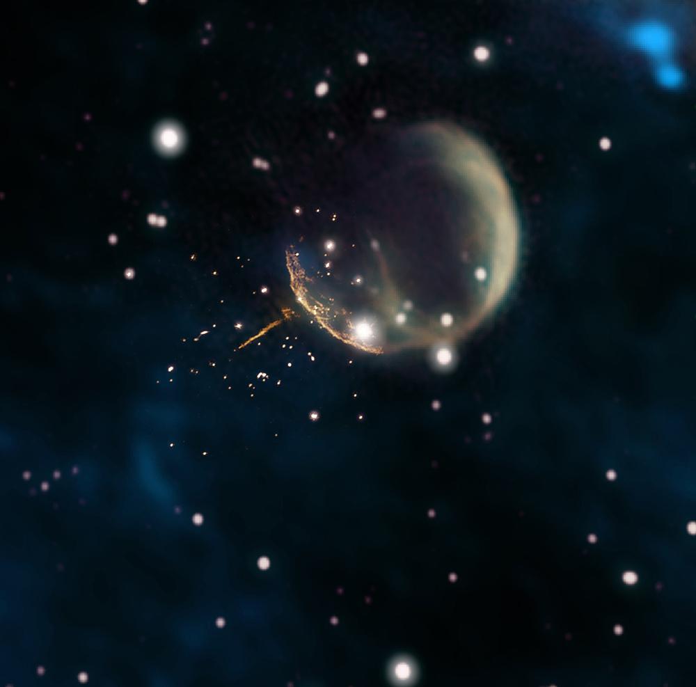 """Speeding """"Cannonball Pulsar"""" Faces Galactic Exile"""