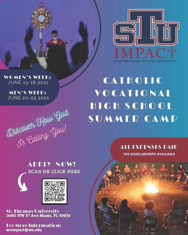 STU Impact - Vocations Summer Camp