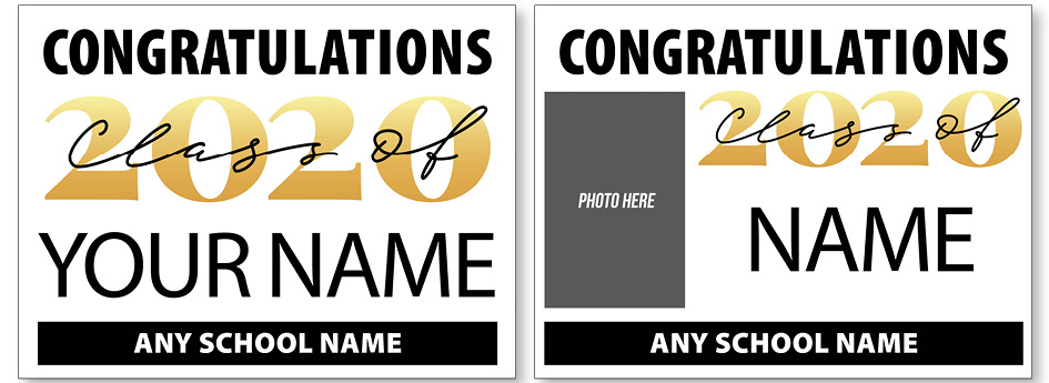 Announcement 03 - Gold 2020 Stock Graphic Personalized