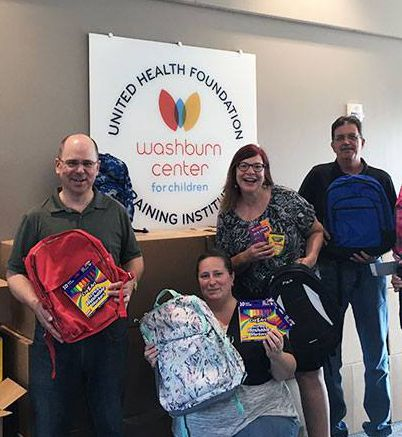 School supplies delivered to Washburn Center
