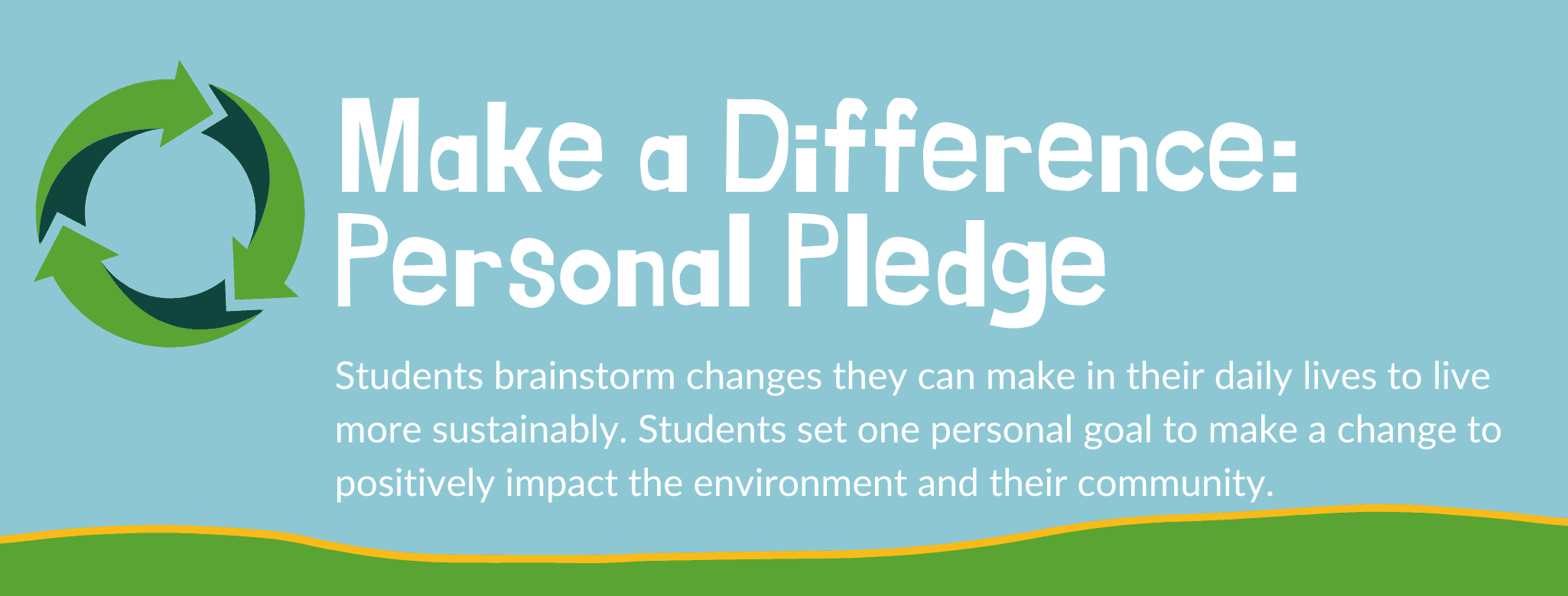 Make a Difference: Personal Pledge