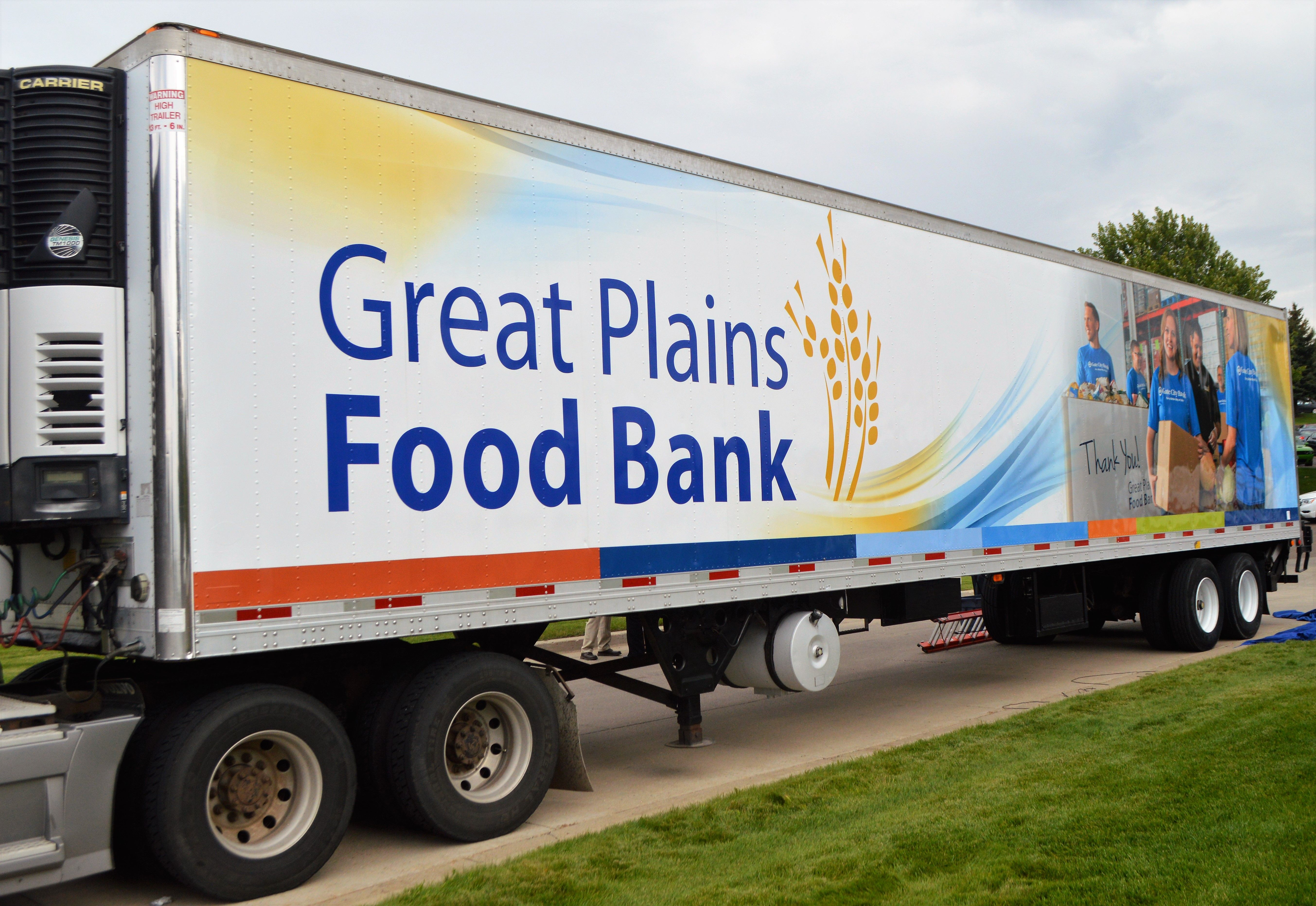 Great Plains Food Bank, Gate City Bank unveil trailer design highlighting hunger-relief partnership