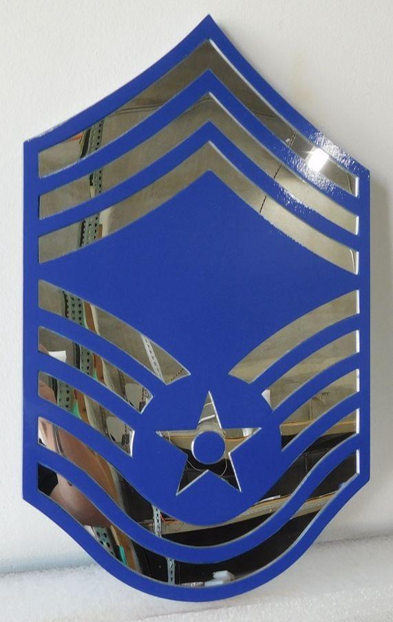 V31692- Carved Insignia Plaque for an USAF Chief  Master Sergeant (CMSGT)