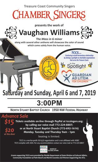 TCCS Chamber Concert – Vaughn Williams
