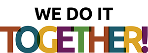 Graphic with Daily Work colors reads We Do It Together!