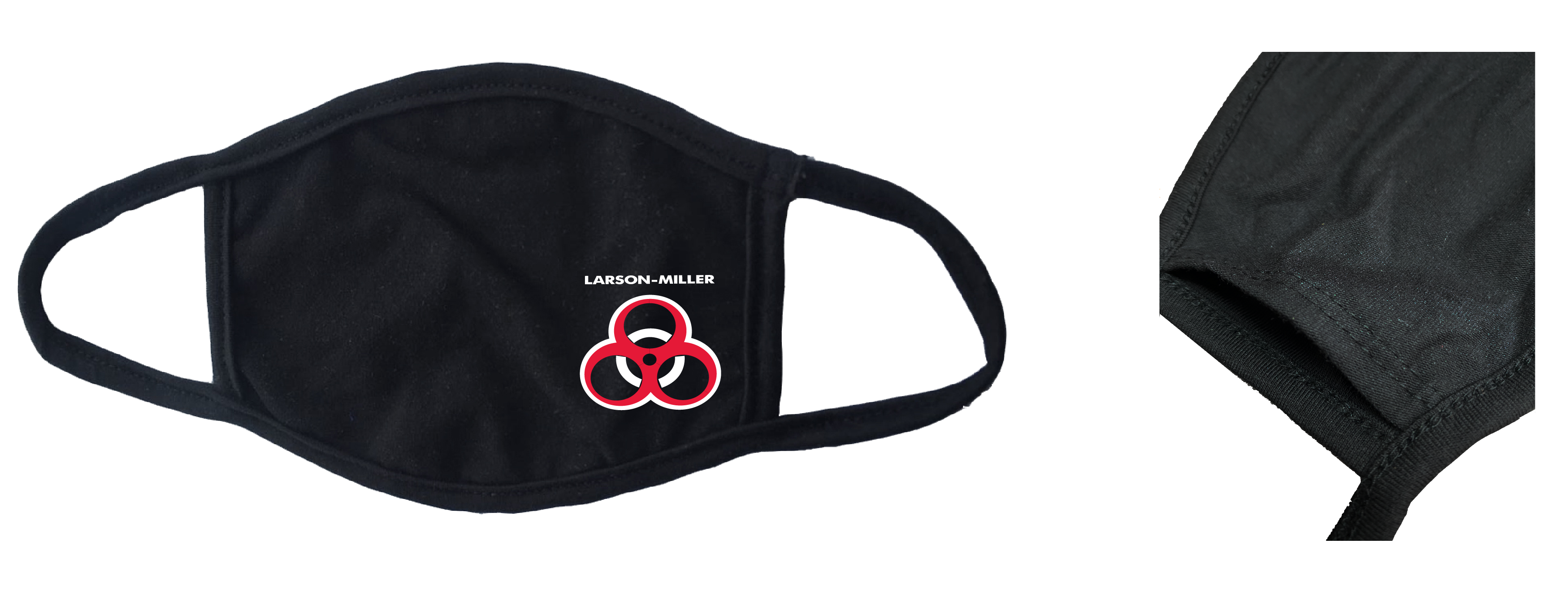 Custom printed black mask