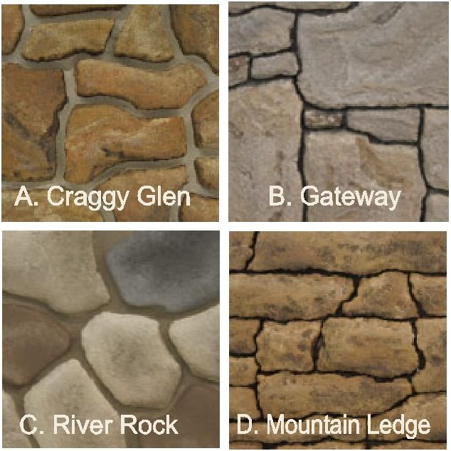 M6910 - Stone Patterns #1- #4 for Monument Signs