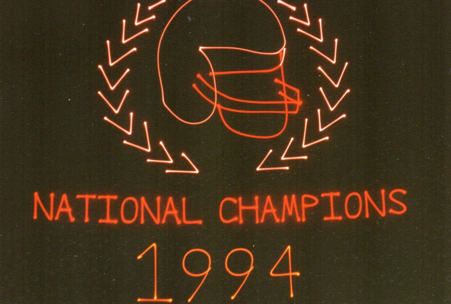Mueller Planetarium created a laser show celebrating the Husker football team at Memorial Stadium (1995)