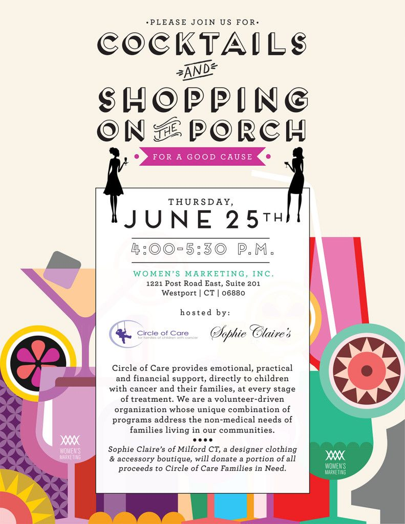 Cocktails and Shopping for COC: Join us on June 25th