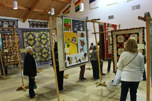 Quilt Show Displayed