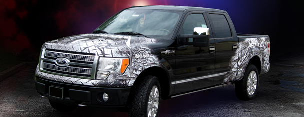 Vehicle Graphics - Ford Pick Up Truck Partrial Wrap