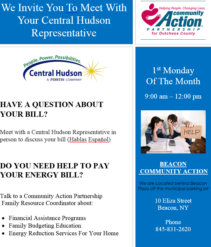 Meet with a Central Hudson Representative