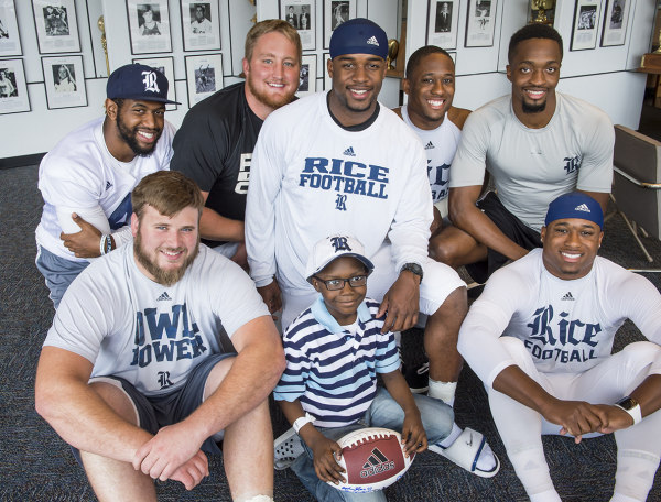 Rice sees 7-year-old as part of the team