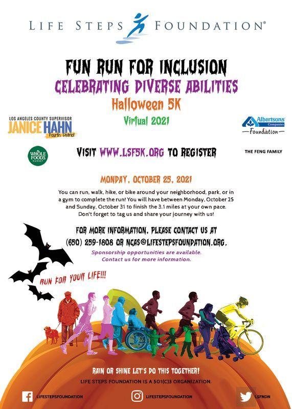 Fun Run for Inclusion 5K 2021 Event