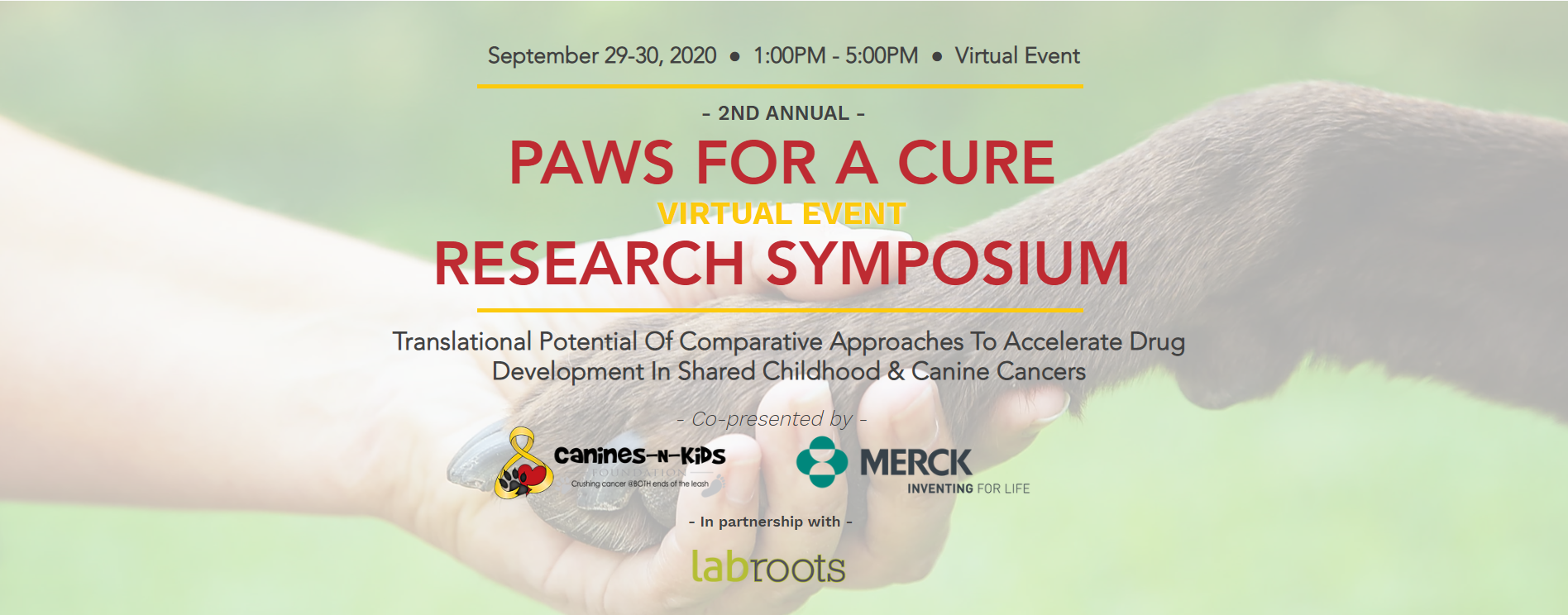 2020 Paws for a Cure Virtual Research Symposium
