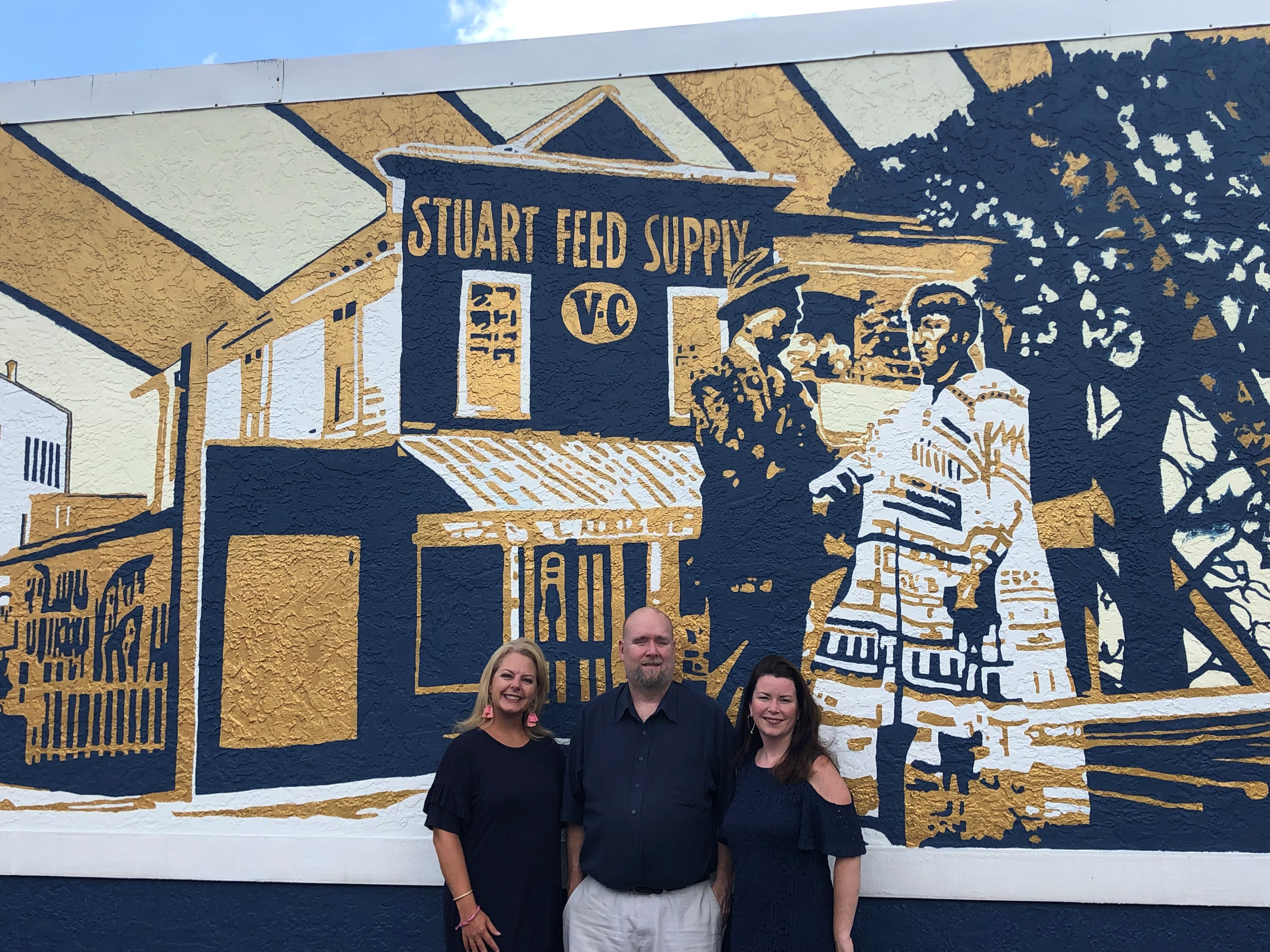 SPECIAL RECOGNITION | MCHS Visual Arts Teachers (Amanda Jones and Bryan Johnson) and Kim Jones for the Martin County Historical Mural at the Prescription Shop