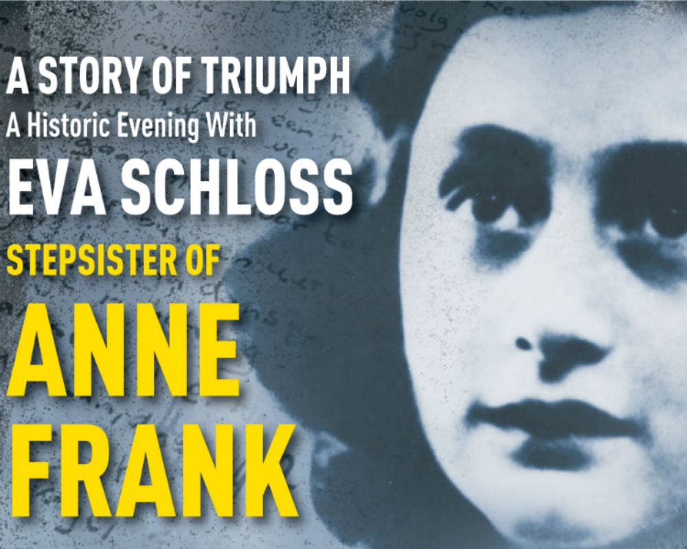 A Historic Evening with Anne Frank's Stepsister Eva Schloss
