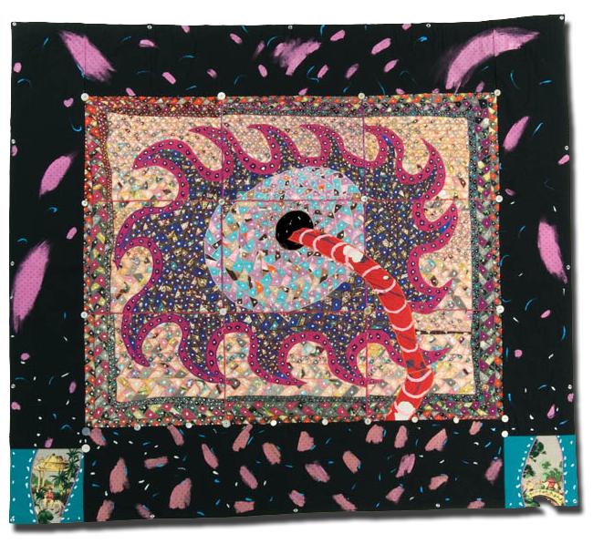'Sawblade,' made by Therese May, made in San Jose, California, United States, dated 1985, 69 x 77 in, IQSCM 1997.001.1079