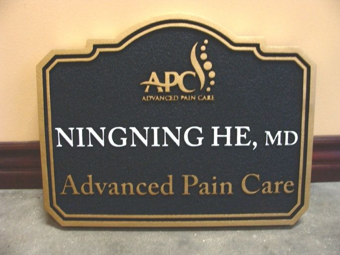 B11023 - Carved and Sandblasted Sign for Pain Care Physician